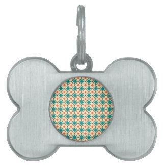 Elegantly Designed Seamless Cross Pattern Pet ID Tag