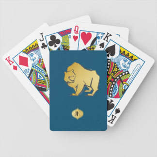 Elegantly Luxurious Gold Bear Bicycle Playing Cards