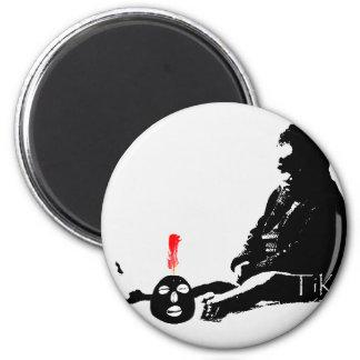 Eleggua  and Oshun Art TiKo Art Print Merchandise 6 Cm Round Magnet