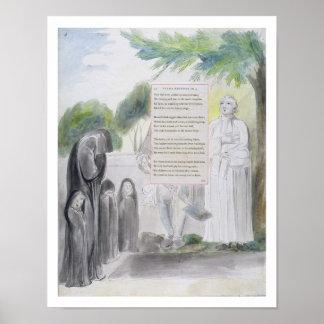 'Elegy written in a Country Church-Yard', design 1 Poster