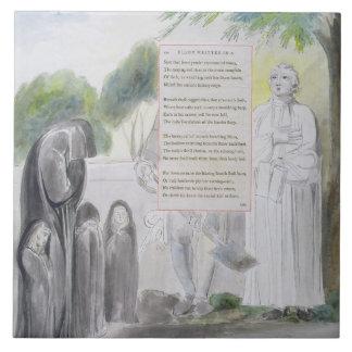 'Elegy written in a Country Church-Yard', design 1 Tile