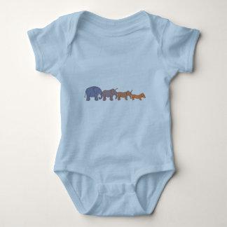 Elehound or doggyphant? baby bodysuit