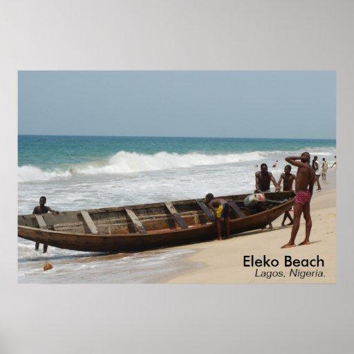 Eleko Beach, Lagos, Nigeria. Poster