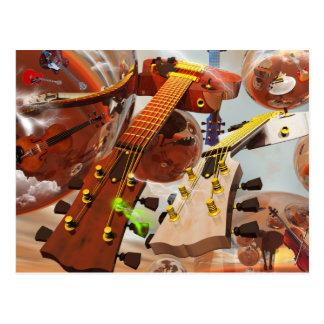 Elektro gitar post cards