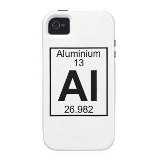 Element 013 - Al - Aluminium Full iPhone 4 Case