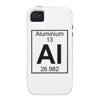 Element 013 - Al - Aluminium (Full) iPhone 4 Case