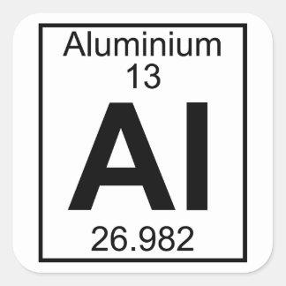 Element 013 - Al - Aluminium (Full) Square Sticker
