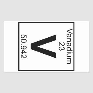 Element 023 - V - Vanadium (Full) Sticker