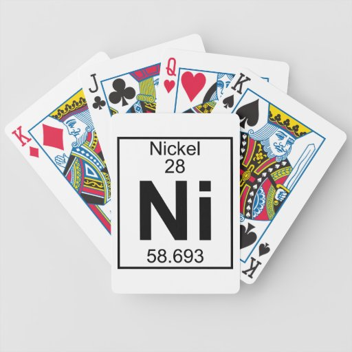 Element 028 - Ni - Nickel (Full) Deck Of Cards