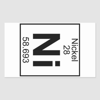 Element 028 - Ni - Nickel (Full) Rectangular Stickers