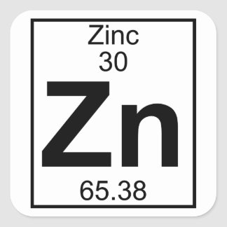 Element 030 - Zn - Zinc (Full) Square Sticker