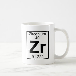 Element 040 - Zr - Zirconium (Full) Coffee Mug