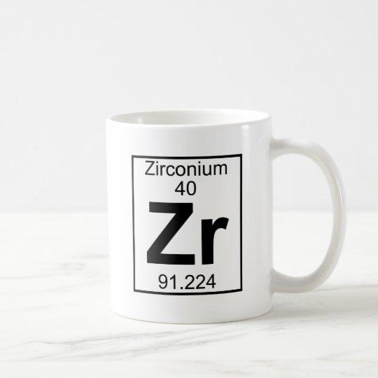 Element 040 - Zr - Zirconium (Full) Coffee