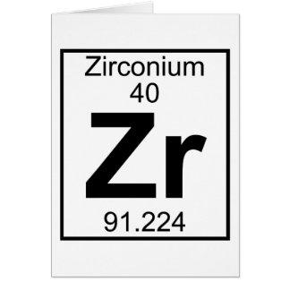 Element 040 - Zr - Zirconium (Full) Greeting Card