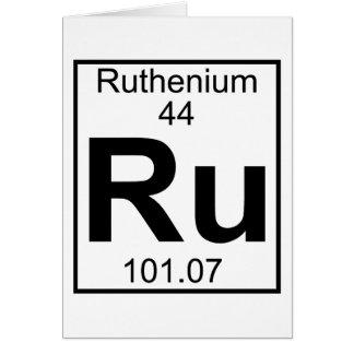 Element 044 - Ru - Ruthenium (Full) Greeting Card