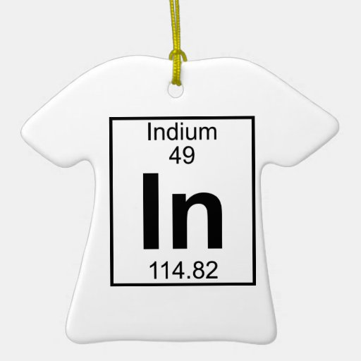 Element 049 - In - Indium (Full) Christmas Tree Ornaments