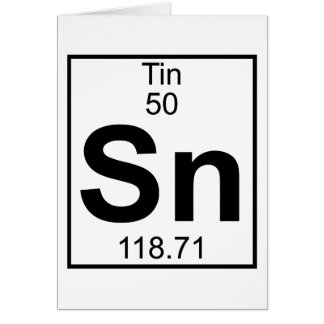 Element 050 - Sn - Tin (Full) Greeting Card