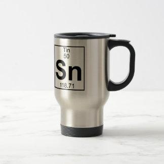 Element 050 - Sn - Tin (Full) Stainless Steel Travel Mug