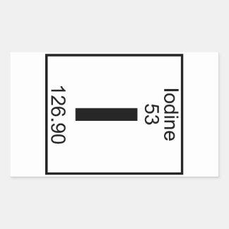 Element 053 - I - Iodine (Full) Rectangular Stickers