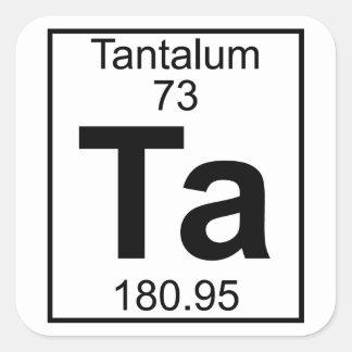 Element 073 - Ta - Tantalum (Full) Square Sticker