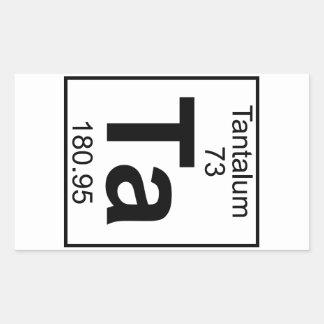 Element 073 - Ta - Tantalum Full Rectangle Stickers