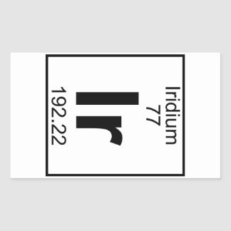 Element 077 - Ir - Iridium (Full) Rectangular Sticker