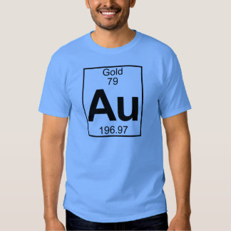 Element 079 - Au - Gold (Full) Tee Shirt