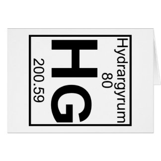 Element 080 - Hg - Hydrargyrum (Full) Greeting Card