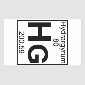 Element 080 - Hg - Hydrargyrum (Full) Sticker