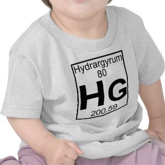 Element 080 - Hg - Hydrargyrum (Full) Tshirts