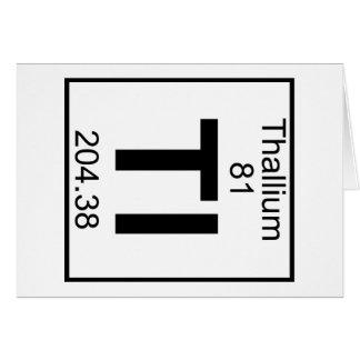 Element 081 - Tl - Thallium (Full) Greeting Card