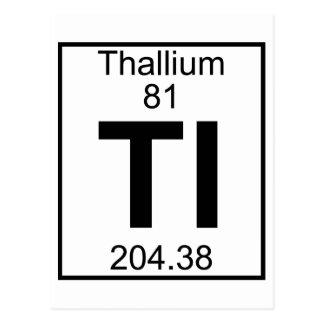Element 081 - Tl - Thallium (Full) Postcard
