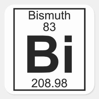 Element 083 - Bi - Bismuth Full Square Stickers