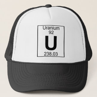 Element 092 - U - Uranium (Full) Trucker Hat