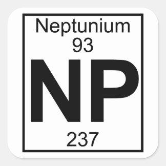 Element 093 - Np - Neptunium (Full) Square Sticker