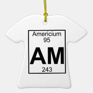 Element 095 - Am - Americium (Full) Christmas Ornaments