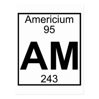 Element 095 - Am - Americium (Full) Postcard