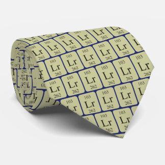 Element 103 Lawrencium tie Transparent graphics