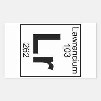 Element 103 - Lr - Lawrencium (Full) Rectangular Sticker