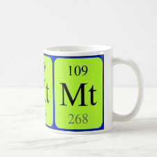 Meitnerium periodic table mug