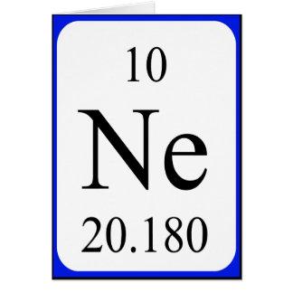 Element 10 card - Neon