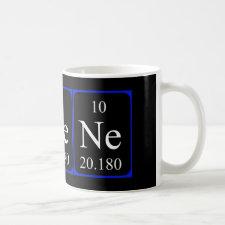 Neon periodic table mug