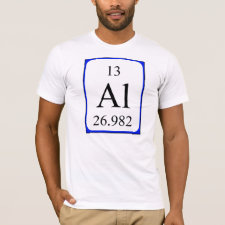 Aluminium periodic table shirt