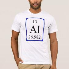 Aluminium periodic table shirt