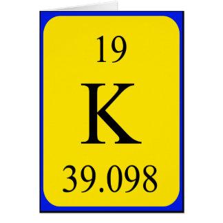 Element 19 card - Potassium