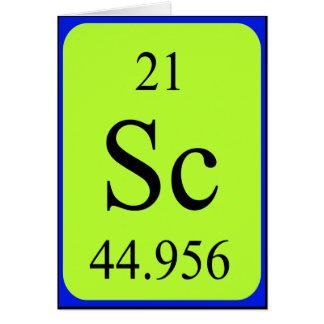 Element 21 card - Scandium