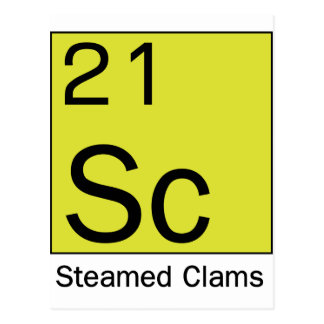 Element 21 Steamed Clams Postcard