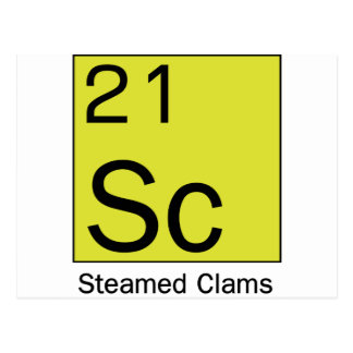 Element 21: Steamed Clams Post Card