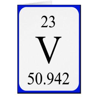 Element 23 card - Vanadium white