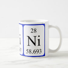mug featuring the element Nickel
